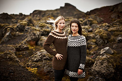 Sisters (LalliSig) Tags: red sky people brown white green girl fashion yellow sisters outdoors iceland blurry wind bokeh windy womam autumnblack