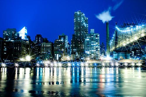 フリー写真素材, 建築・建造物, 都市・街, 夜景, 橋, 高層ビル, アメリカ合衆国, ニューヨーク,