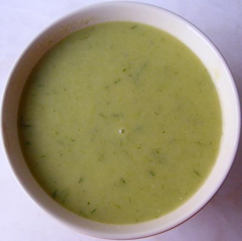 Sopa de alho francês e cebolinho....