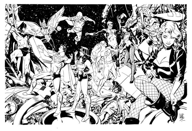 JLA by Paul Smith from ComicArtFans Malcolm Bourne