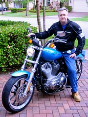 Jonathan on his new Sportster
