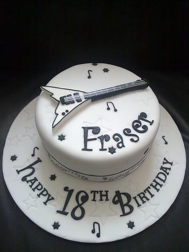 18th Guitar Cake