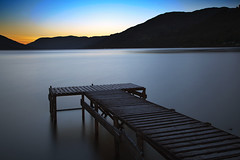 Loch Earn Jetty (ajnabeee) Tags: wood longexposure blue sunset scotland pier boat wooden sailing dusk jetty perthshire scottish lee perth anchor sail loch lochearnhead lochearn stfillians 10stop nd110 bigstopper shahbazmajeed