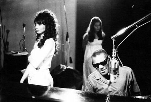 Ray Charles - and (i assume) girlfriend of Mr. Pfleghar at the left