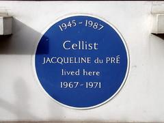 Photo of Jacqueline du Pré blue plaque