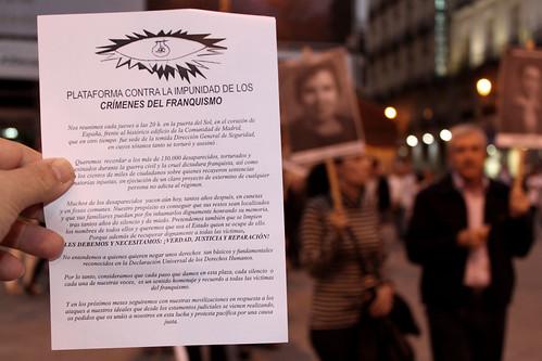 Concentración contra la impunidad del Franquismo (23/09/2010)