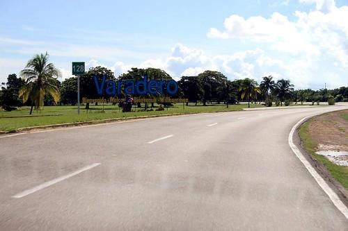 Placa de entrada de Varadero em Cuba
