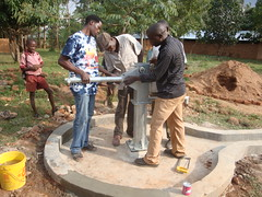 Alpha vocational training home,attachment of handle max during pump installation