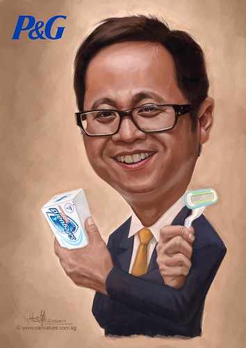 digital caricature for P&G - Ivan A3