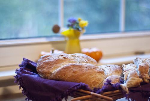 autumn oatmeal walnut bread