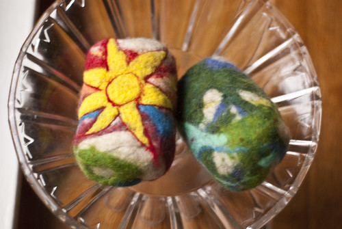 making felted soap 11
