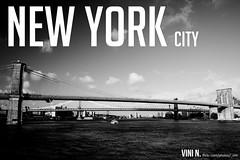 New York City and the Bridge (.Vini) Tags: new york usa nova july eua julho 2010 iorque novaiorquenewyork2010julhojulyeuausa