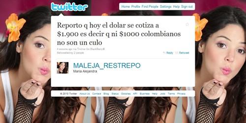 Maleja restrepo en Twitter