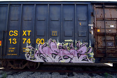 HECZ (TRUE 2 DEATH) Tags: railroad streetart art train graffiti tag graf railcar boxcar railways railfan freight freighttrain rollingstock benching freighttraingraffiti hecz