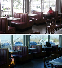 Eternal Sunshine Of The Spotless Mind - Montauk Restaurant (GazTruman) Tags: new york city nyc winter ny newyork film sunshine dinner corner movie restaurant cafe kate joel jim location mind montauk clementine eternalsunshineofthespotlessmind eternal spotless winslet carrey jimcarrey katewinslet movielocations reinactment esotsm filminglocations