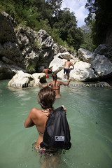 Trek mates bag ! (Periklis Ripis) Tags: trip travel vacation people woman holiday color nature water girl female canon river landscape greek photography eos waterfall holidays paradise mark extreme dry greece ii 5d leisure vacations  periklis ripis   parga2010  periklisphotography periklisphotographycom