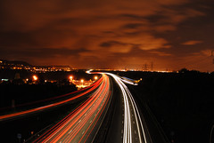 m56 England (BIG Reard) Tags: england sky night speed dark nikon slow motorway time shutter runcorn rosepetal d300 northwales helsby m56 frodsham mygearandmepremium