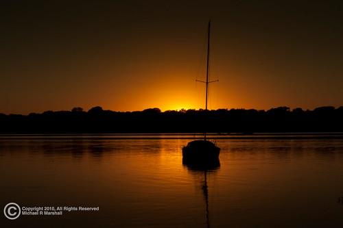 Photo of sunset over lake White Rock