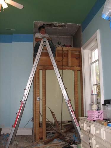 moving the electric box for a ceiling light