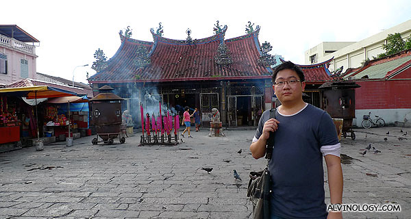 Me, outside the temple