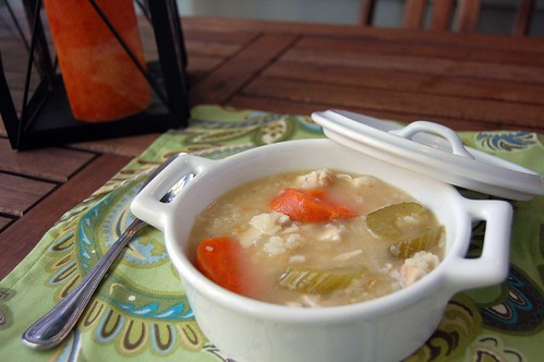 Hearty Chicken + Rice Soup