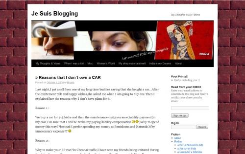 Je Suis Blogging