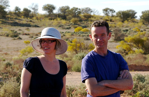 Susan and Brendan, near Broken Hill