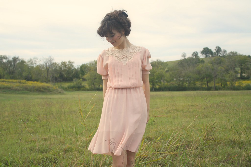 blooming leopold fall lookbook - lace yoke dress