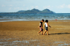 Future Lovers (AlessandraCapricephotography) Tags: ocean boy beach water girl children thailand sand firstlove thai smalltown rurallife langsuan