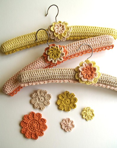 crochet hangers by me, in spool mag