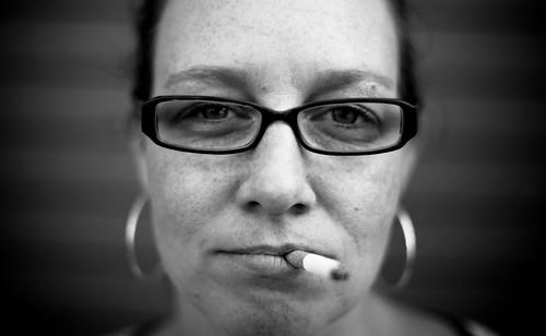 Lauren doesn't smoke