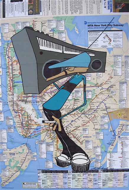 ZIMAD SUBWAY MAP PIECE FOR MAP SHOW IN LONDON