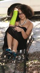 r06 (Apt To Wander) Tags: portrait black green punk dress braces boots little afro 14 grade sparkle teen cast jewish fedora eyeshadow doc 8th tutu martens reisa