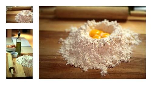 agnolotti di zucca (pumpkin ravioli) - making the dough
