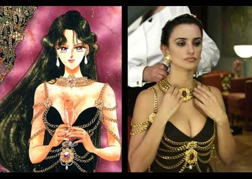 Sailor Plut y Penélope Cruz usan el mismo vestido