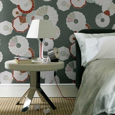 Modern wallpaper - bedroom interior
