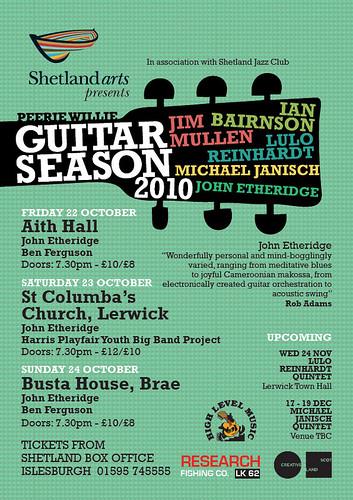 Guitar season poster
