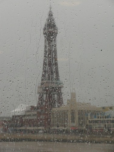 Raining Blackpool Tower