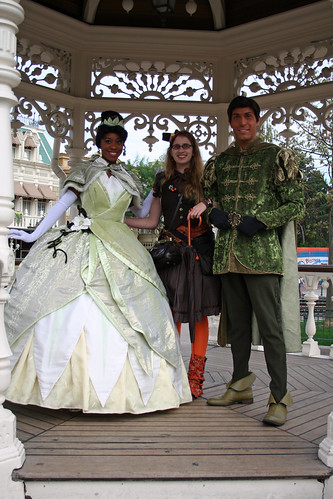 With Tiana and Naveen