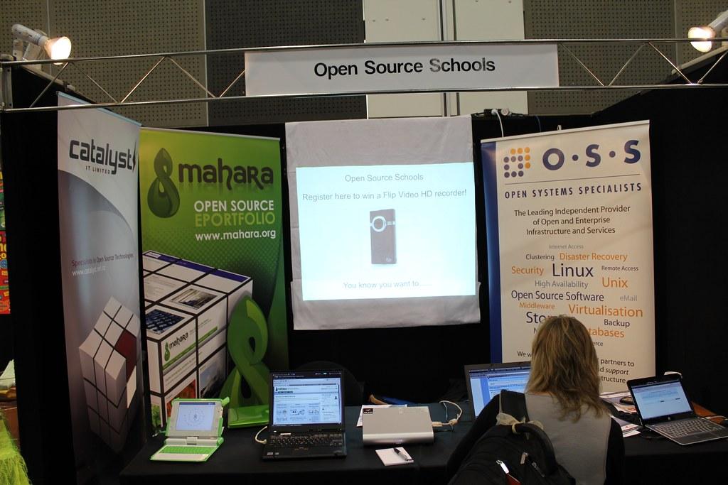 Open Source Schools booth