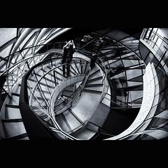 Vertical Labyrinth (tk21hx) Tags: uk england blackandwhite bw london architecture stairs buildings spiral stair cityhall sigma fisheye normanfoster openhouse londonopenhouse towerhill sirnormanfoster londoncityhall fosterpartners fosterandpartners sigma15mmf28exdgdiagonalfisheye canoneos5dmarkii silverefexpro