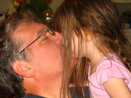 grandpa gets a kiss