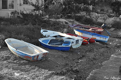 Colorized boats. (Manos Eleftheroglou (Photography)) Tags: old blue autumn winter light red sea urban white seascape black film beach nature water beautiful yellow boats island greek boat nikon rust europe ship aegean scenic hellas rusty greece colorized isleofwight griechenland soe decayed samos 2010 secluded waterscape urbex blueribbonwinner  supershot photographyrocks mywinners abigfave ireon    platinumphoto d5000 anawesomeshot aplusphoto   flickraward    platinumheartaward betterthangood goldstaraward  goldstarawaed  nikonflickraward  artofimages mygearandmepremium mygearandmebronze mygearandmesilver mygearandmegold makisamos