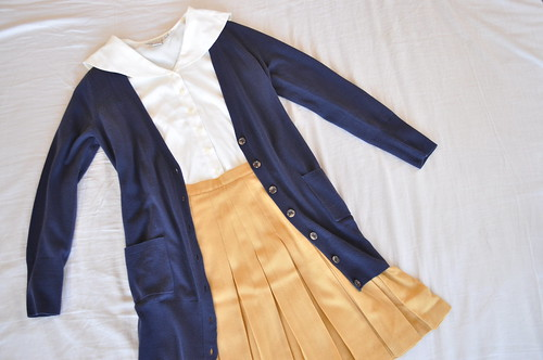 vintage sailor collared blouse