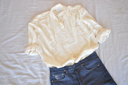 vintage medium cream shirt