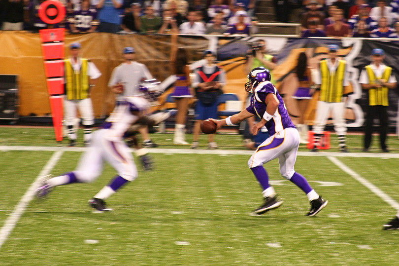 Vikings Lions Game - Brett Favre