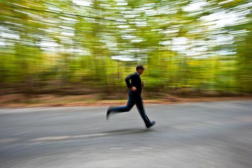 Fast man!