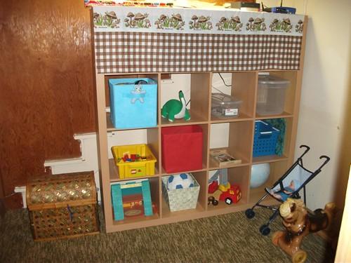 playroom shelf