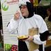 FoE Cardiff cow chews the cud