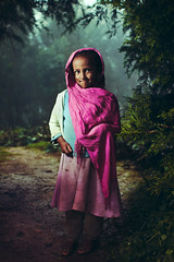 Princess (Jeremy Snell) Tags: africa pink portrait colors girl beautiful fog pretty child princess small 28mm mount ethiopia 18 entoto